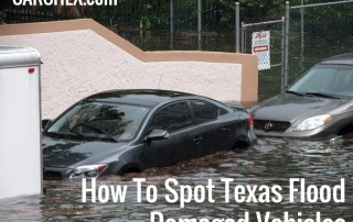 How To Spot Texas Flood Damaged Vehicles