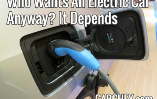 Who Wants An Electric Car Anyway