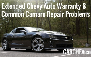 Extended Chevy Auto Warranty Common Camaro Repair Problems