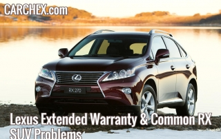 Lexus Extended Warranty Common RX SUV Problems
