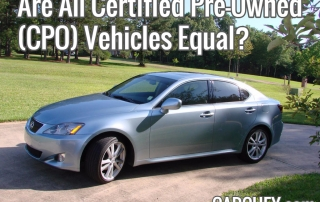 Are All Certified Pre-Owned CPO Vehicles Equal