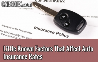 Factors That Affect Auto Insurance Rates