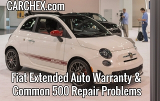 Fiat Extended Auto Warranty and Common 500 Repair Problems