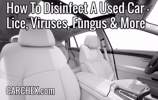 How To Disinfect A Used Car