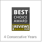 CARCHEX rated Best Extended Warranty For Used Cars by BestReviewsHub.com for 2 consecutive years