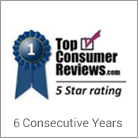 CARCHEX awarded 5-star rating with Top Consumer Reviews for 6 consecutive years